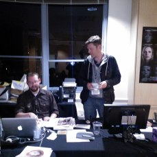 SFFS Publicity Manager Bill Proctor and Publicist Jackson Scarlett publicizing something...