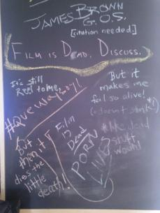 I posted the center point on one of the Festival Lounge Blackboards to see what kind of responses I'd get. See for yourself...
